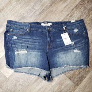 Torrid Demin  Ripped Style Cut Off Jean Shorts 24